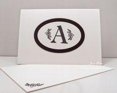 Jean's Paper Jewels: Monogram Note Card #stampinup, #cardmaking, #sophisticatedserifs
