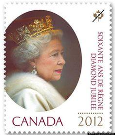 Canada's Stamp Comemorating #QueenElizabeth II's Diamond Jubilee #tiarasandtrianon