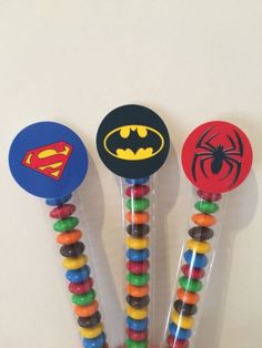 Batman spider-man superhero lolly sticks #party loot bags #favours #birthday x12,  View more on the LINK: http://www.zeppy.io/product/gb/2/111921963254/