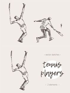 Sketches of tennis players Human Drawing, Drawing Poses, Line Drawing, Drawing Sketches, Pose Reference Photo, Art Reference, Tennis Drawing, Birthday Presents For Friends, Character Poses