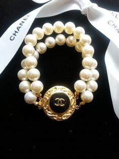 Chanel Button Bracelet ArmCandy DesignsbyZ found on Etsy & Tradesy.com