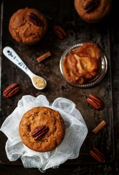 pear pecan maple syrup muffins