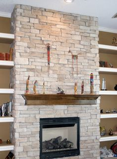 River Rock Fireplace Refacing To Reface A Brick Fireplace