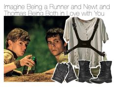 """Imagine Being a Runner and Newt and Thomas Being Both in Love with You"" by xdr-bieberx ❤ liked on Polyvore"