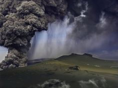 Swedish aerial and landscape photographer, Hans Strand, has some really stunning photos of the 2010 Eyjafjallajökull eruption. See source link for more photos and an interview.