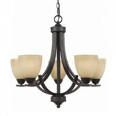 Bronze Antique Glass Shades Chandelier > $149.99 Five Lights - http://chandeliertop.com/5-bulb-bronze-antique-glass-chandelier-149-99/