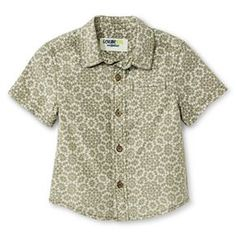 Baby Boys' Button Down Shirt - Green - Genuine Kids™ from Oshkosh®