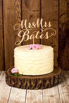 Custom rustic wedding cake topper by Better Off Wed Rustics on Etsy www.betteroffwedrustics.etsy.com