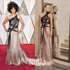 """345 Likes, 42 Comments - Fashion Bomb Daily (@fashionbombdaily) on Instagram: """"#HalleBerry in #AtelierVersace SS17 Couture at the #Oscars. Hit! Or Hmm...? #fashionbombdaily…"""""""