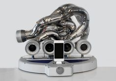 ixoost sound systems are crafted from the exhaust pipes of supercars