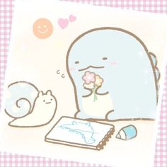 Tokage and Nise Tsumuri. Molang, Sanrio, Cute Art, Pokemon, Snoopy, Cartoon, Wallpaper, Drawings, Pictures