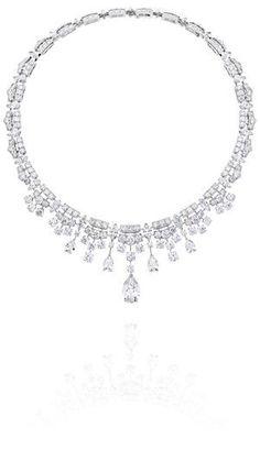 De Beers Phenomena Frost diamond necklace.