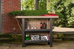 LuxCraft Poly Serving Bar Serve up fun with a stylish poly outdoor bar. Full of storage space and available in a rainbow of colors to best match your outdoor decor. Eco friendly poly is made from recycled plastic. Outdoor Wood Furniture, Amish Furniture, Outdoor Decor, Wine Cabinets, House In The Woods, Bars For Home, Furniture Collection, Recycled Materials, Solid Wood