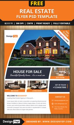 Free Real Estate Flyer PSD Template Free Flyers Pinterest Real - Free real estate ad templates