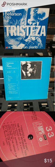 Oscar Peterson Trio Tristeza Sizz 33LP Nice album great selection. Album in excellent condition. Cover is ver good. 1972 oscar Peterson Other