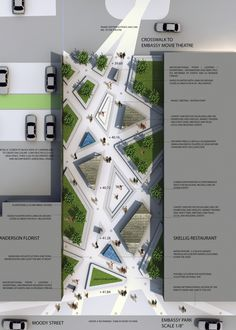 Embassy Park Design Competition - tech drawing / plan