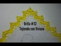 Orilla #32 tejida a gancho crochet - YouTube