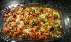 Low Carb Rezepte: Gemüsesatt-Auflauf Wenns schnell gehen muß