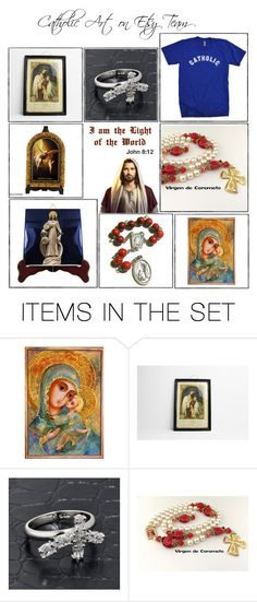 """""""Catholic gifts on Etsy - Volume 4"""" by terrytiles2014 on Polyvore featuring arte, etsy, gifts, catholic e religious"""