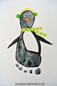 Penguin Footprint Art - FSPDT