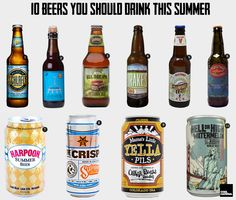 Beers to try  1. Schlafly Summer Lager – Link 2. Russian River Supplication – Link 3. Founders All Day IPA – Link 4. Drake's 1500 American Pale Ale – Link 5. Victory Summer Love Ale – Link 6. Dogfish Head Festina Penche – Link 7. Harpoon Summer Beer – Link 8. Sixpoint The Crisp – Link 9. Oskar Blues Mama's Little Yella Pils – Link 10. 21st Amendment Hell or High Watermelon – Link