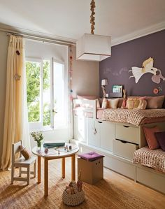 Latest Bedroom Design Ideas Featuring Comfort [Modern and Luxury] Boy And Girl Shared Bedroom, Small Girls Bedrooms, Shared Rooms, Little Girl Rooms, Small Rooms, Kids Bedroom, Kids Rooms, Bedroom Ideas, Bedroom Decor