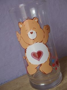 vintage Care Bear drinking glass Tenderheart Bear by ShoponSherman, $7.....I still have mine at my grandmother's!!