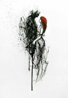 ❥ painting - abstract and figurative paintings ❥ art on metal ❥ art p Fantasy Kunst, Dark Fantasy Art, Arte Dark Souls, Arte Obscura, Dark Art Drawings, Demon Art, Creepy Art, Angel Art, Gothic Art