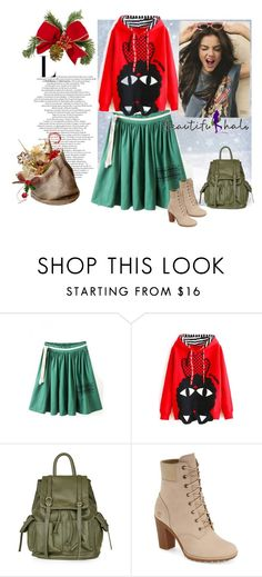 """""""Beautifulhalo-9"""" by nihada-niky ❤ liked on Polyvore featuring moda, Topshop, Timberland, beautifulhalo e bhalo"""