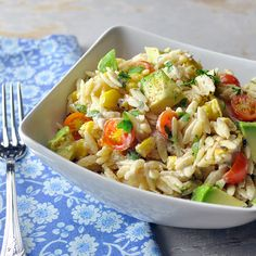 Tex-Mex Orzo Salad. Delicious on its own. Delectable as a side.