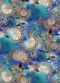 Abstract Pattern, Pattern Art, Print Patterns, Fabric Print Design, Designer Wallpaper, Wallpaper Art, Turquoise Art, Poster Drawing, Printable Pictures