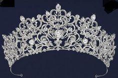 Royal Scroll Design Rhinestone Wedding and Quince Tiara--Affordable Elegance Bridal -