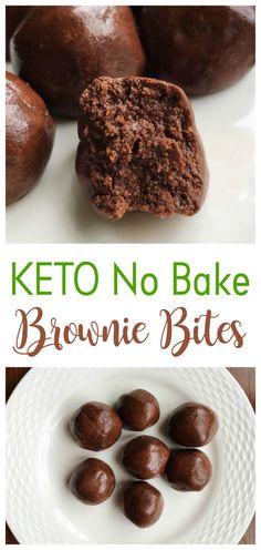 KETO NO BAKE BROWNIE BITES   best recipes