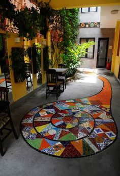 home decor mosaic stepping stone Mosaic Wall, Mosaic Tiles, Mosaic Mirrors, Tiling, Stone Mosaic, Mosaic Glass, Mosaic Tile Designs, Painting Concrete, Amazing Street Art