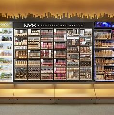 All eyes are on the design which visually differentiate to the competitors in store. To do this, ARNO designed a sleek black cosmetics bar, with selective illumination, that displays an extensive range of the NYX cosmetics.