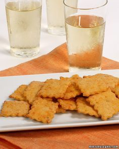 This great recipe for peppery cheese crackers is a fantastic appetizer for any dinner party.