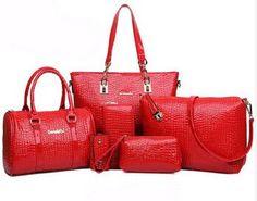 6 Bags Crocodile Pattern Women Bag Stone Women Handbag Pu Leather Shoulder