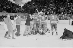 The 1960 U.S. men's hockey team made history winning the first U.S. gold medal in men's hockey at Squaw Valley, California