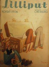 LILLIPUT MAGAZINE- AUGUST 1949 - PHOTOS, ARTICLES, NUDES, VINTAGE ADS, CARTOONS