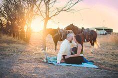 Engagement photo shoot with horses <3 -XOXO