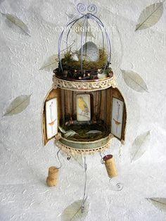 'The Bird Cage' - altered tin shrine.