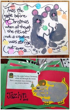 Twas the Night Before Christmas Handprint/Footprint Kids Craft