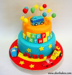 Life is too short, Eat Desserts: Cars, Vehicle, Tayo Bus Cake