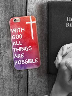 Keep the lord on your mind all day with this inspired cellphone case on sale now for only $15.  #pray #bewithgod