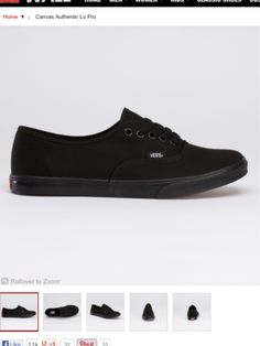 All black Vans sneakers! And other types of foot ware