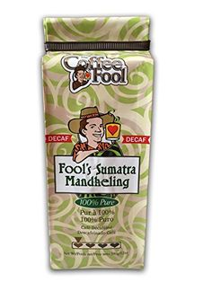 The Coffee Fool Fool's Decaf Swiss Water Sumatra Mandheling, Coarse Grind, 12 Ounce >>> Visit the image link for more details. #GroundCoffee The Fool, Gourmet Recipes, Ground Coffee, Canning, Image Link, Food, Water, Gripe Water, Essen