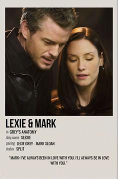 Grey's Anatomy Lexie, Grey's Anatomy Mark, Greys Anatomy Derek, Grays Anatomy, Grey Quotes, Grey Anatomy Quotes, Minimalist Music, Minimalist Poster, Lexie And Mark
