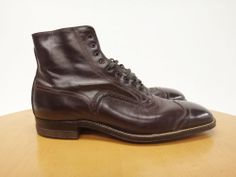 20s Men's NOS Balmoral Dress Boots-PETERS SHOES- sz 8 - 8 1/2 - Boardwalk Empire