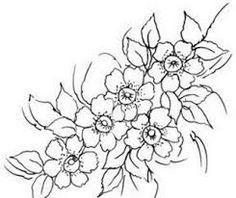 Boyama çiçek Desenleri
