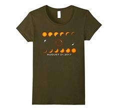 Women's Total Solar Eclipse August 212017 T-Shirt Is Coming Medium Olive...